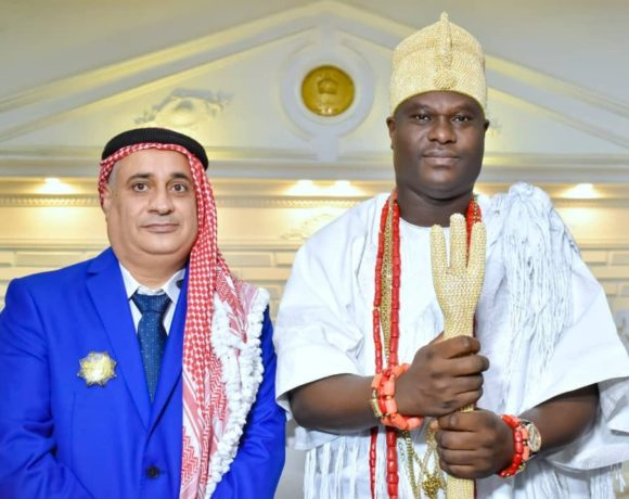 Ooni Ogunwusi signs economic pact with Sharif Ahmad Bin Jaber Al Natour GDTC Chairman